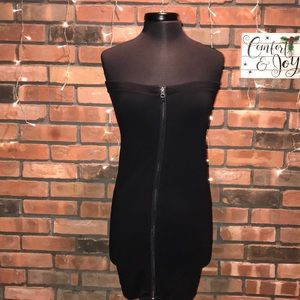 Express Zipper up stretchy form fitting dress